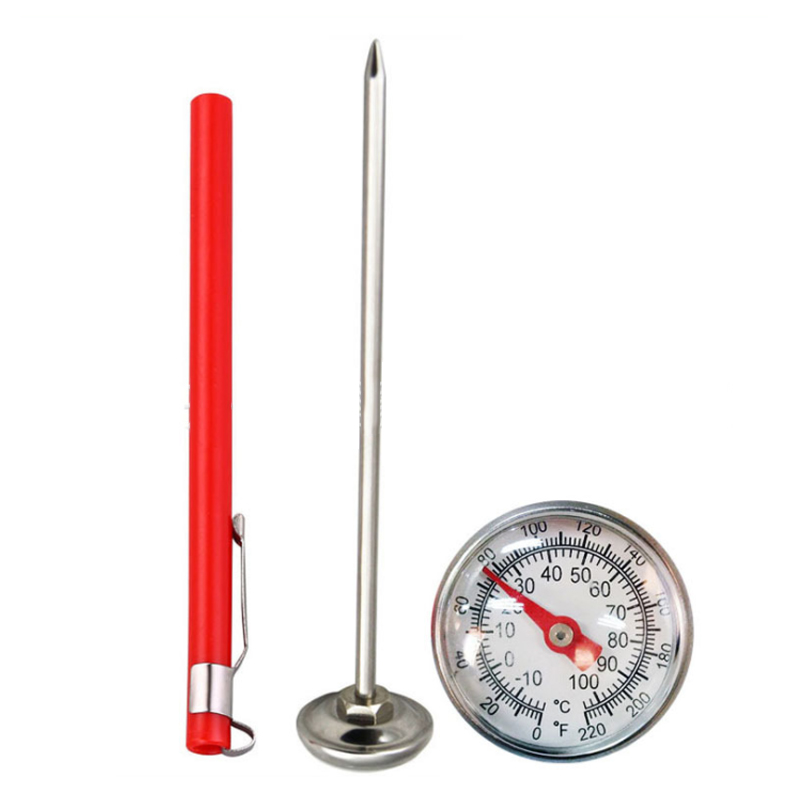 New Stainless Steel Thermometer Kitchen Probe Food Tea Water Meat Milk Coffee Foam BBQ Temperature Tester -10 To 120 ° C