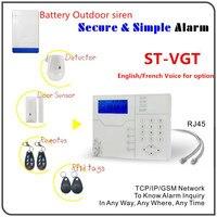 433 Mhz/868 Mhz Sistema di Allarme Senza Fili di GSM GPRS Tcp/Ip Security Sistema di Allarme con Batteria Costruito in Outdoor Strobe Flash Sirena