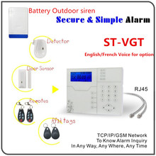 Security Protection - Security Alarm - 433Mhz/868Mhz Wireless GSM GPRS Alarm System TCP/Ip Security Alarm System with Battery Built in Outdoor Strobe Flash Siren