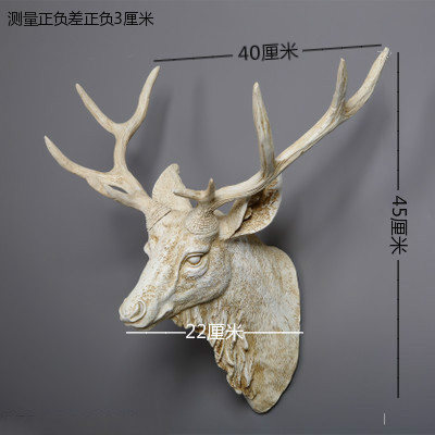 Dollhouse Miniature Deer Head Wall Decoration Refrigerator Magnet Clas craft statues Vintage Background wall sculpture Home dies - 4