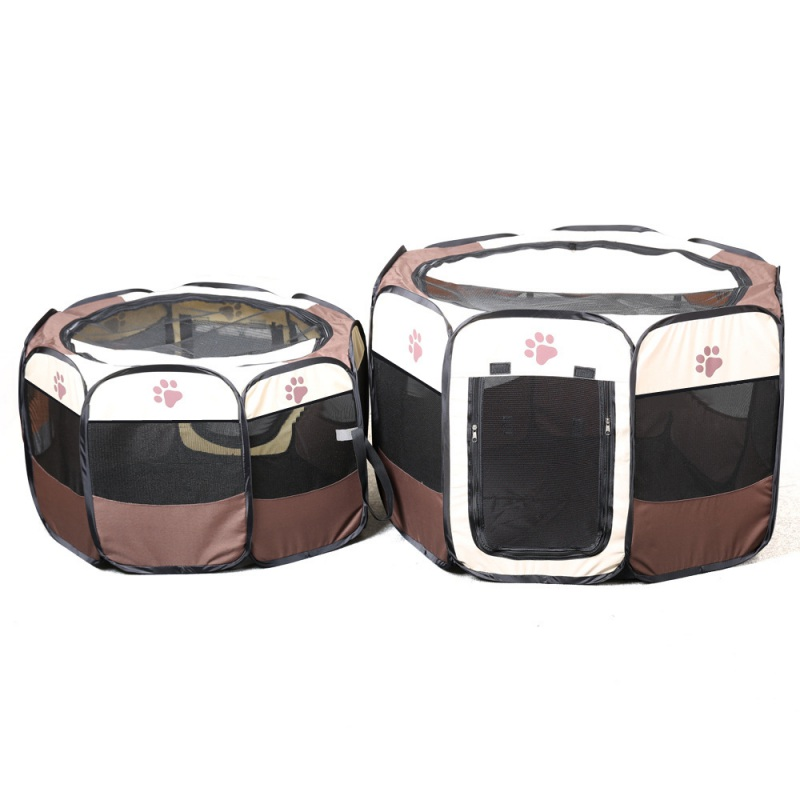 Fashion Portable Folding Pet Tent House Cage Dog Cat Bed Tent Puppy Kennel Easy Operation Octagonal Fence Outdoor Supplies