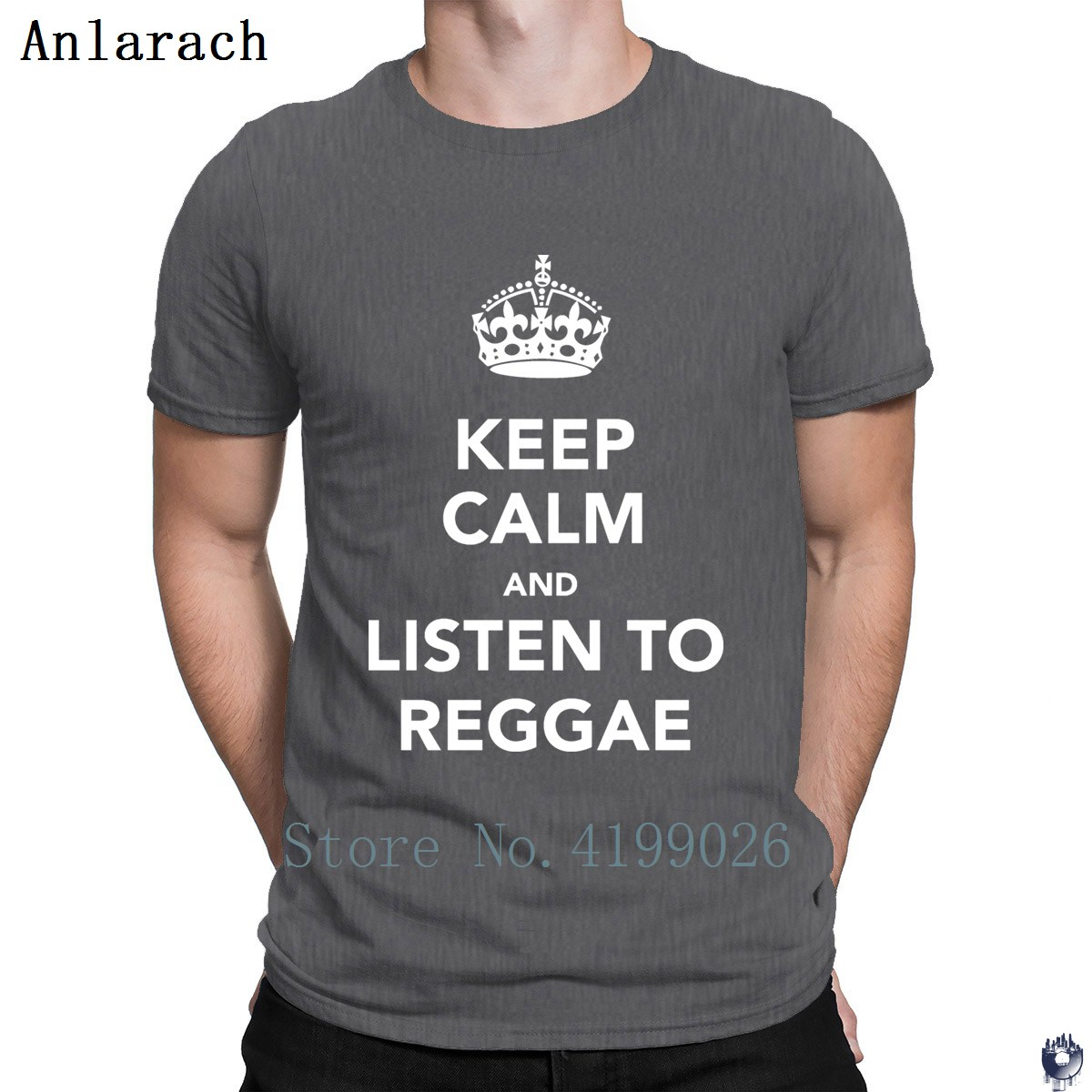Keep Calm And Listen To Reggae Tshirts Building Tops Funky Letter T Shirt For Men Cotton Print Clothes Summer