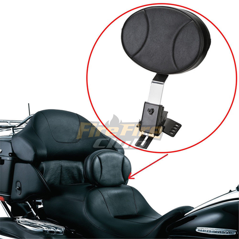 Adjustable Plug-In Driver Rider Backrest Kit For Harley Touring FLTR FLHT 97-17