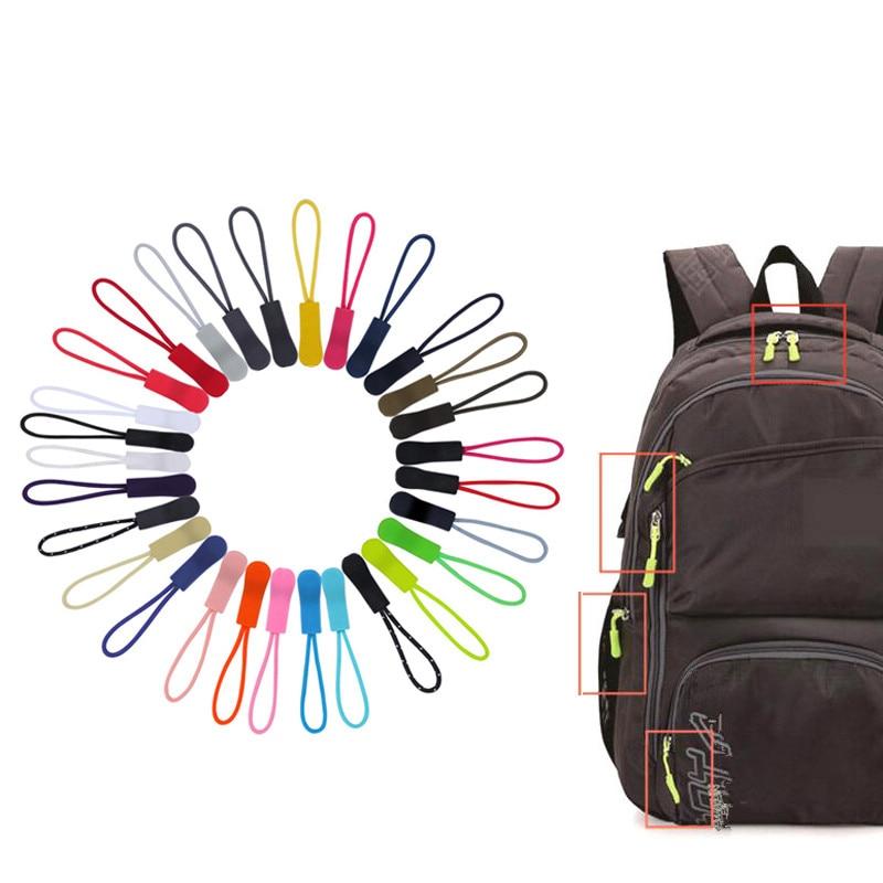 20Pcs Color Cord Zipper Pull Apparel Bag Tactical Backpack Accessories Zip Puller DIY Zipper Head Cord Rope Strap Lariat Slider