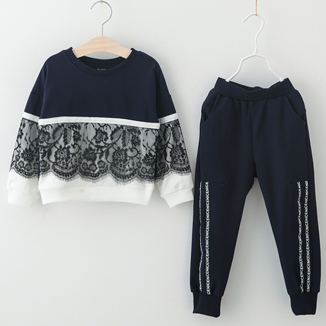 Girls' Sport Long Sleeved Cotton Clothes Set