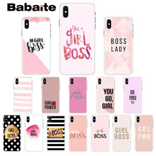 Babaite Boss lady Girl power Luxury Unique Design Phone Cover for Apple iPhone 8 7 6 6S Plus X XS MAX 5 5S SE XR Mobile Cases