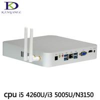 Kingdel N3150 I3 5005U I5 4260u Processor Ubuntu Or Windows 10 Vga Mini PC With Fan