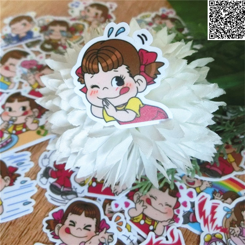40 Pcs Two Cute Little Girls Paper Sticker For Luggage Skateboard Phone Laptop Moto Bicycle/Eason Stickers/DIY Scrapbooking
