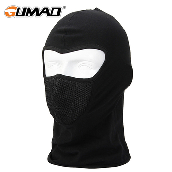 Outdoor Lycra Cycling Balaclava Full Face Mask Sports Ski Bike Bicycle Snowboard Riding Helmet Liner Hood Warm Army Tactical Hat face mask