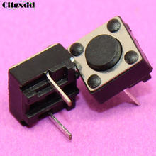 Cltgxdd 1~100pcs 6*6*4.3mm 2pin Push button switch 6X6X4.3H Tactile Tact Push Button Micro Switch Momentary Two Pin(China)