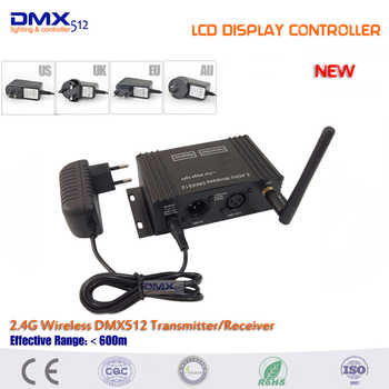 Dhl free shipping New 1pcs 2.4Ghz LCD Display dmx wireless transmitter and 4pcs Female DMX Receiver