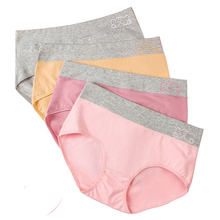 women Cotton panties Breathable printing ladies briefs sexy lingerie girl underwear female solid color underpants