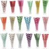 25pcs Drinking Paper Straws flamingo Straw halloween christmas Baby Shower Decoration Gift Party Event Supplies