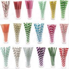 25pcs Drinking Paper Straws flamingo Straw halloween christmas Baby Shower Decoration Gift Party Event Supplies(China)