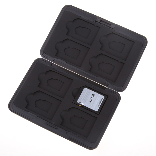 Silver Micro SD Card Holder SDXC Storage Holder Memory Card Case Protector case 16 solts for SD/ SDHC/ SDXC/ Micro SD 3