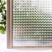 CottonColors Window Cover Films ,Premium No-Glue 3D Static Decorative Window Privacy Film Sticker ,3Ft X 6.5Ft.(90 x 200cm)