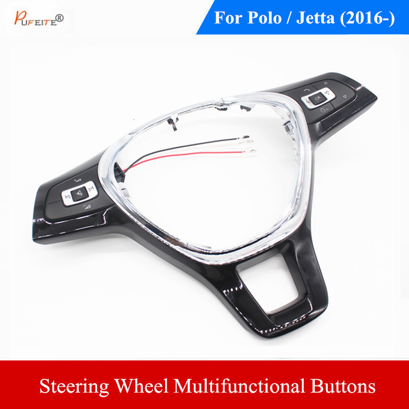 steering wheel button For Volkswagen vw new polo new jetta 2016- volume music mute function switch panel car accessories replacement vibrator mute volume power button for iphone 5 silver