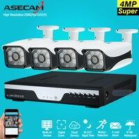 Горячие 4ch супер Full HD 4mp AHD CCTV Камера видеорегистратор Регистраторы Главная Открытый безопасности Камера Системы комплект 6LED массив наблюде