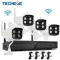Techege 4ch 1080 p nvr kit plug & play sem fio ao ar livre ip66 night vision 2.0mp wifi câmera de cctv sistema de vigilância com 1 tb hdd