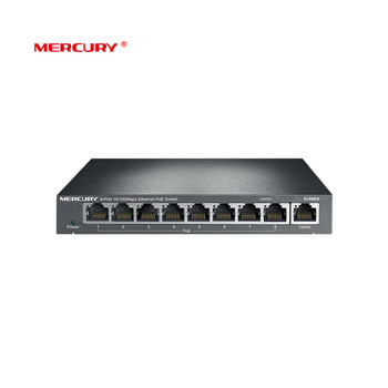 Mercury 8 Port 10/100Mbps POE switch Steel PoE Switch AP monitoring standard PoE IEEE 802.3af For IP camera Up 65W ( S109PS )