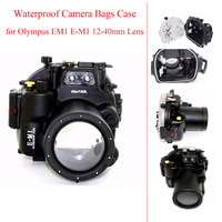 Meikon Underwater Housing Camera Diving Case for Olympus EM1 E M1 12 40mm Lens Waterproof Camera Bags Case for Olympus EM1 E M1