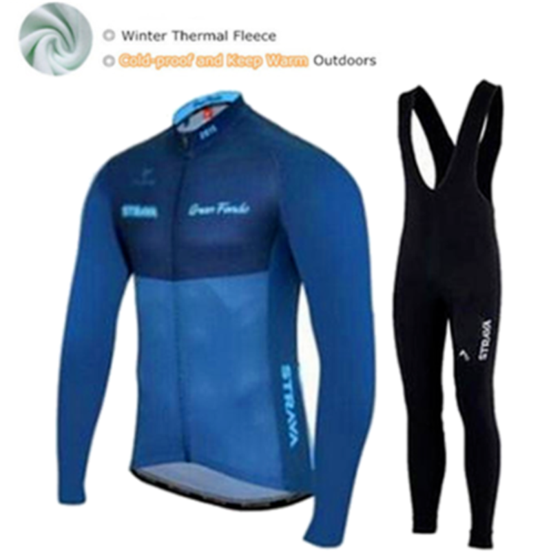 цены Winter Thermal Fleece STRAVA Cycling Jersey Ropa Ciclismo Mtb Long Sleeve Bike Wear Clothing Maillot Biciclet