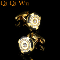 2017 Men S Jewelry Brand Crystal Round Cufflinks Wholesale Buttons Designer High Quality Shirt Cuff Link