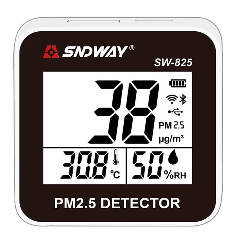 SNDWAY SW 825 Laser PM2 5 Detector tester gas monitor Digital Air Quality Monitor Gas analyzer