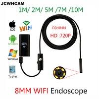 Hard Soft 1 3 5 7MWifi Endoscope Camera Android 720P For Iphone Borescope Waterproof Camera Endoscopie