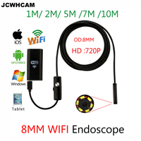 Hard Soft 1 3 5 7MWifi Endoscope Camera Android 720P For Iphone Borescope Waterproof Camera Endoscopie