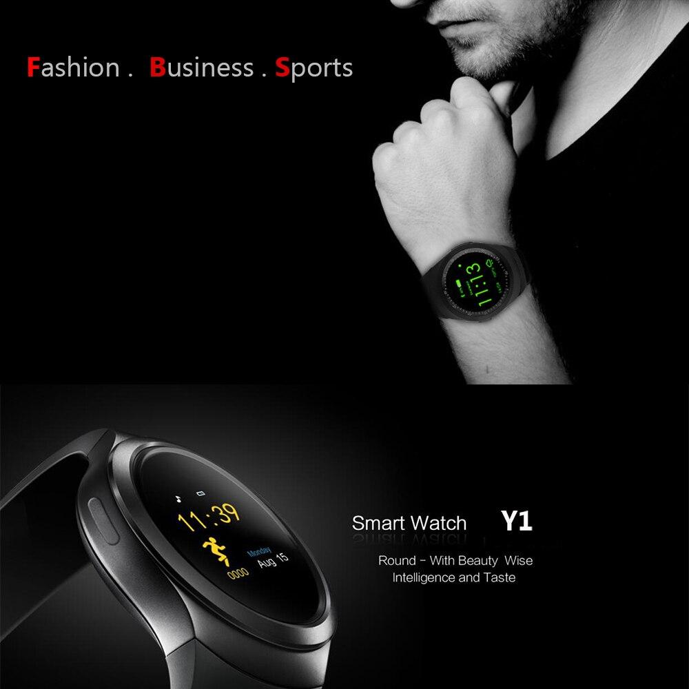 Bluetooth smartwatch y1 smart watch reloj relogios invictas 2g gsm sincronizació