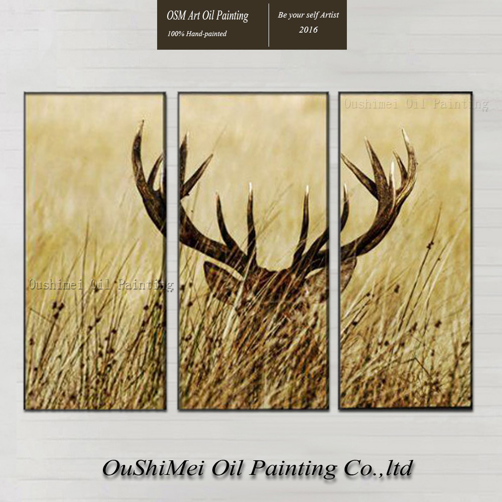 Free Shipping High Quality Modern Abstract Oil Painting The Stag ...