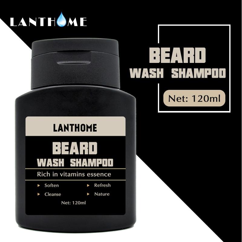 Beard Shampoo and Conditioner Anti Frizz Dandruff Shampoo Anti Hair Loss Beard Care Products Beard Oil Soften Nourishing For Men 3