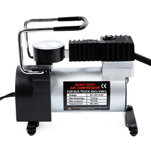 ФОТО dc 12v car electric inflator pump single-cylinder auto tire air compressor with tyre pressure monitor
