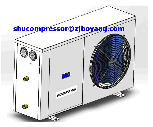 Air-cooled condensing unit for Energy saving fast cooling low temperature air cooled water chiller homely using  цены