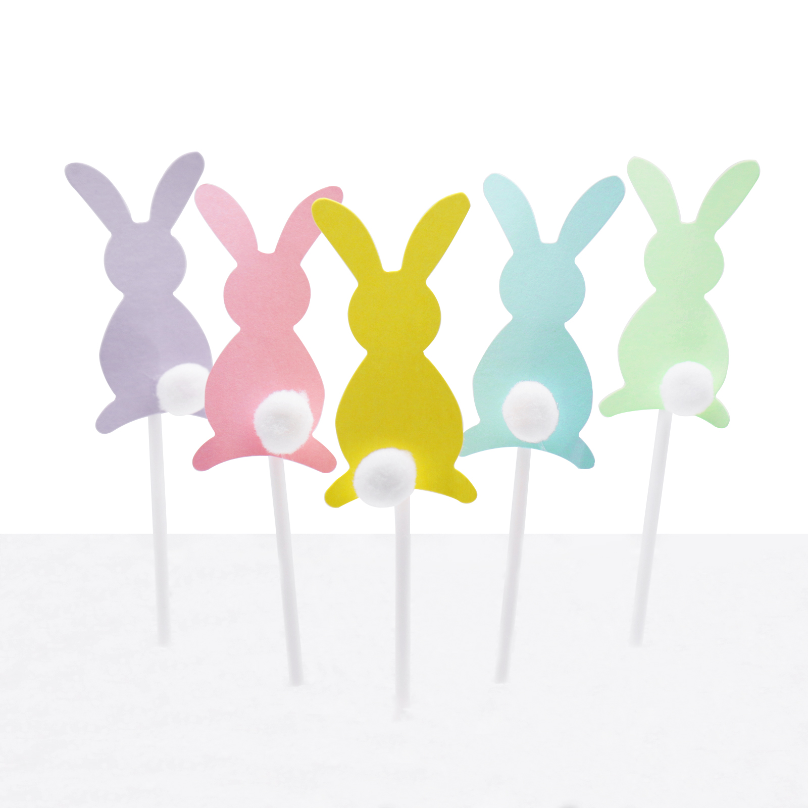 5pcs/set Cartoon Bunny Cupcake Wrapper Birthday Party Decorations Kids Cute Rabbit Birthday Cake Topper Baby Shower Girl