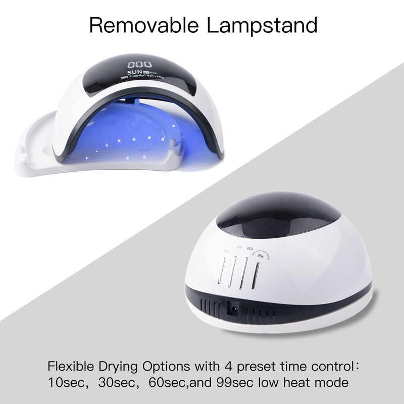 שמש H3 בתוספת UV מנורת LED 96W חכם חיישן פוטותרפיה מכונה ללא כאבים מצב מהיר ייבוש כל סוג מסמר ג 'ל פולני