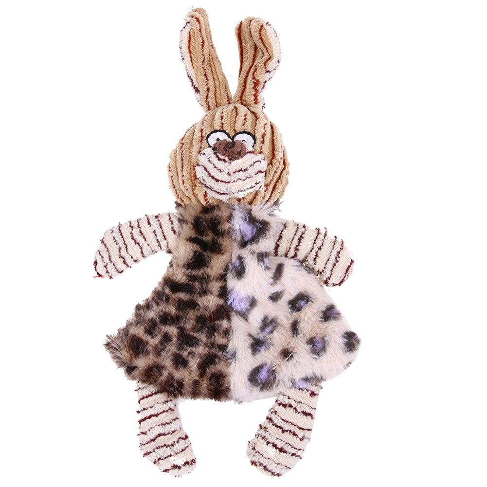 Милый мультфильм кролик в полоску Дизайн Игрушки для собак мягкие теплые домашние кошки щенок, игрушка-пищалка Веселая Интерактивная клюет...