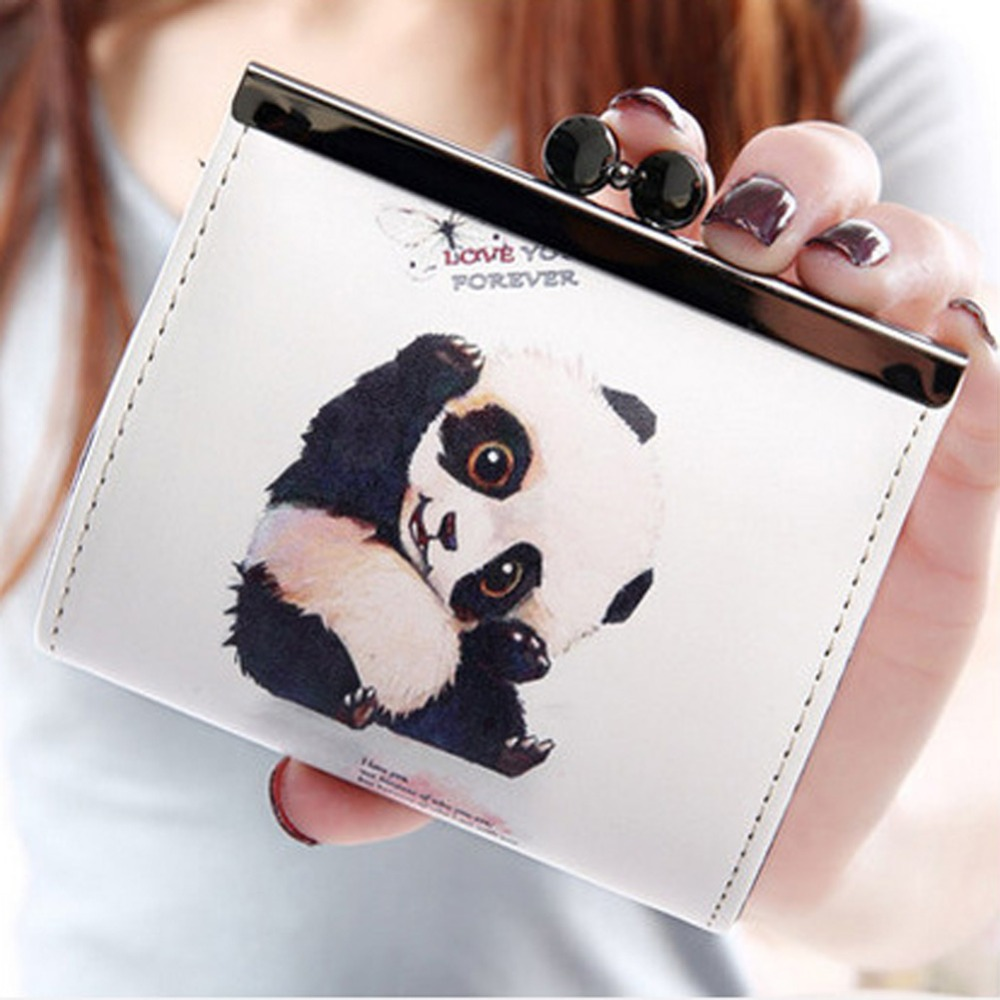Fashion Women Wallets Cartoon Panda Printed Small Change Purse Coin Bag Embossed Hasp Purse Female PU Leather Coin Purses anti theft door lock c grade copper locking cylinder security lock core cylinders key 65mm 110mm door cylinder lock with 6 keys