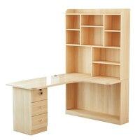 Mueble кровать офис Escritorio Tisch бюро Meuble Para Тетрадь Biurko Ретро деревянный стол стоять Меса ноутбук стол с книжный шкаф