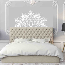 Half Mandala Wall Decal Headboard Zen Decor Lotus Flower Vinyl Bedroom Indian Yoga Sticker Bohemian MT41