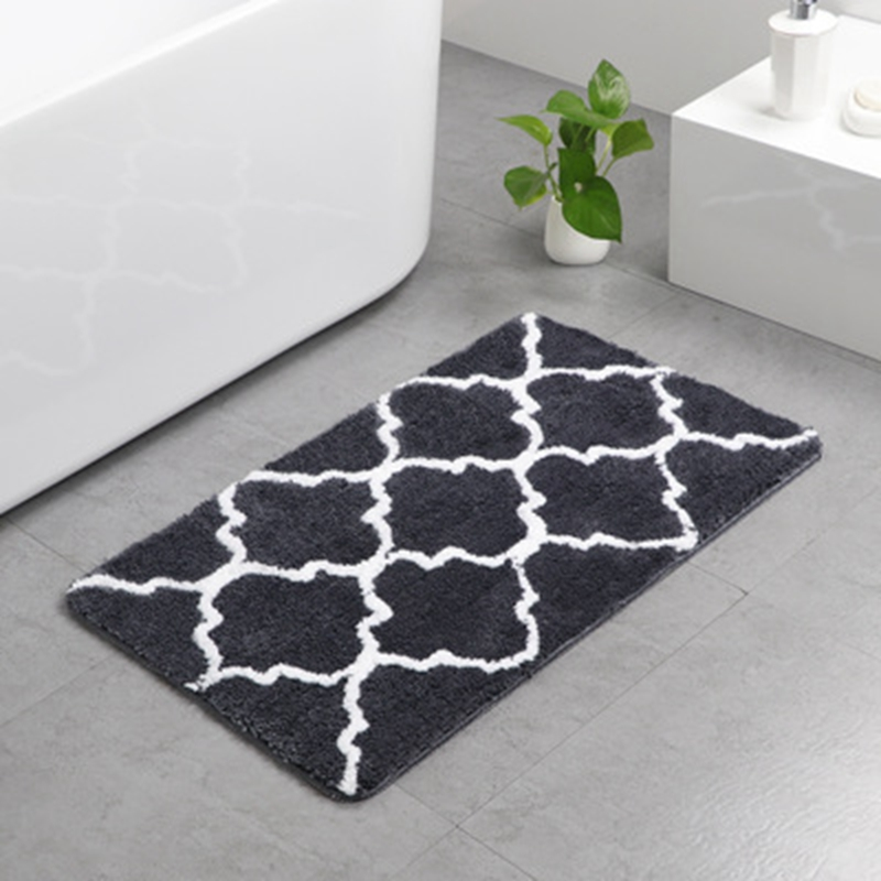 Carpet Flower Microfiber Bathroom Mat