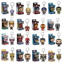 Funko pop Marvel Карманный Брелок для ключей pop официальный Мстители Super Hero персонажи фигурку Коллекционная модель Рождество игрушечные лошадки