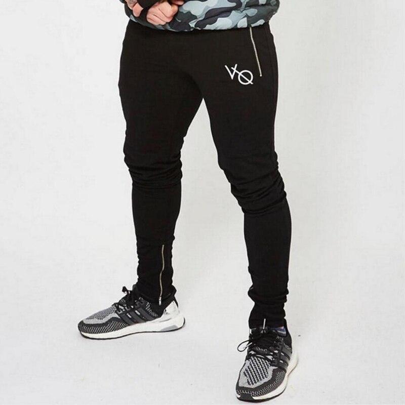 Men cotton Sweatpants 2017 Autumn Winter Joggers slim fit trousers gyms Fitness Bodybuilding Casual fashion brand Pencil Pants