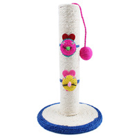 Cat Tower Cat Scratch Post Cat Climbing Tree Frame Toy with Mouse Ball Shape Bell Toy Cat Scratching Posts Jumping Training Toy