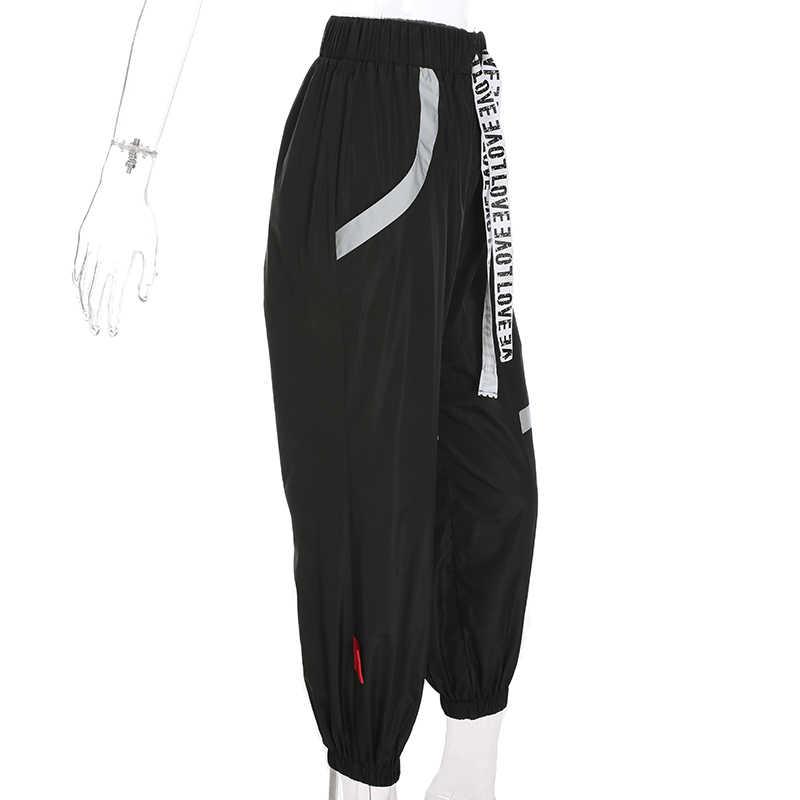 Sweetown, полосатые Лоскутные черные спортивные штаны, Уличная Повседневная одежда с высокой талией, трико для мужчин, женские штаны в стиле хип-хоп, спортивные штаны
