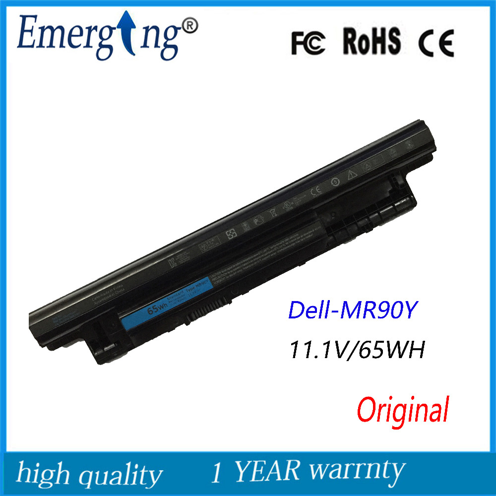 6Cells 11.1V 65Wh Original New Laptop Battery MR90Y 3421 XCMRD  For Dell 5421 5437 3521 5535 5521 8TT5W V8VNT 6HY59 24DRM PVJ7J 14 8v 40wh original xcmrd battery for dell inspiron 14 15 17 n3421 n3421 3521 5421 3521 5521 3721 5721 2421 2521 14r 15r