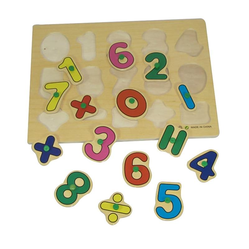3D формы деревянные развивающие игрушки головоломка головоломки детей раннего обучения деревянный Обучения цифровой