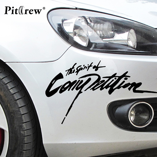 2813cm 2018 new arrival car styling sticker the spirition of competition car stickers vinyl decal waterproof car accessories in car stickers from