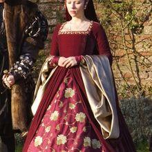 Платье в тюдоровском стиле королевы викторианской королевы елизаны Тюдора, карнавальный костюм в стиле Анны Болейн, красное платье от других девочек